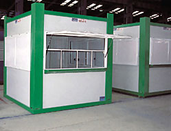 Polyester demountable cabins