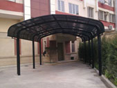 Baku city, Azadliq avenue, carports